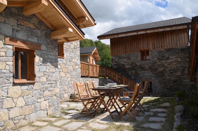 Chalet l\'Orcieres Saint Martin 3 Vallées - Terrasse